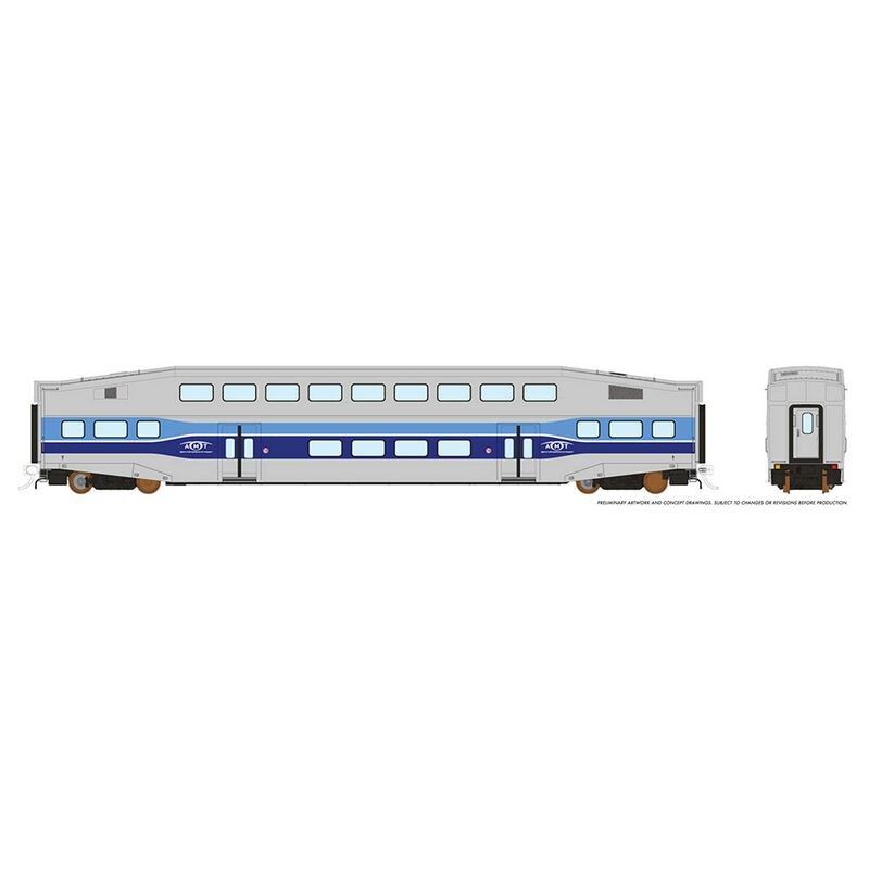 HO BiLevel Commuter Car - AMT Coach: Unnumbered