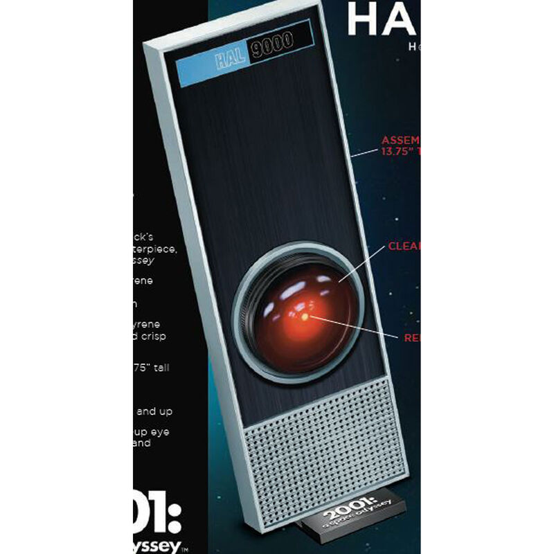 """HAL9000 1/1 Scale Styrene Model 13.75"""" with LED"""