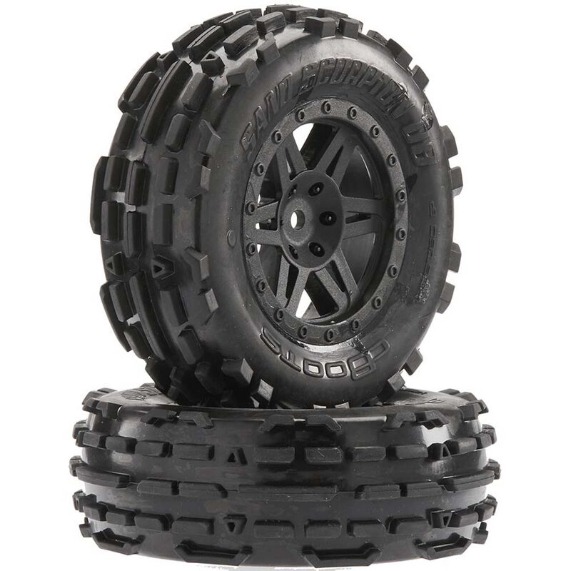 1/8 Sand Scorpion DB XL Front 2.2/3.0 Pre-Mounted Tires, 12mm Hex, Black (2)