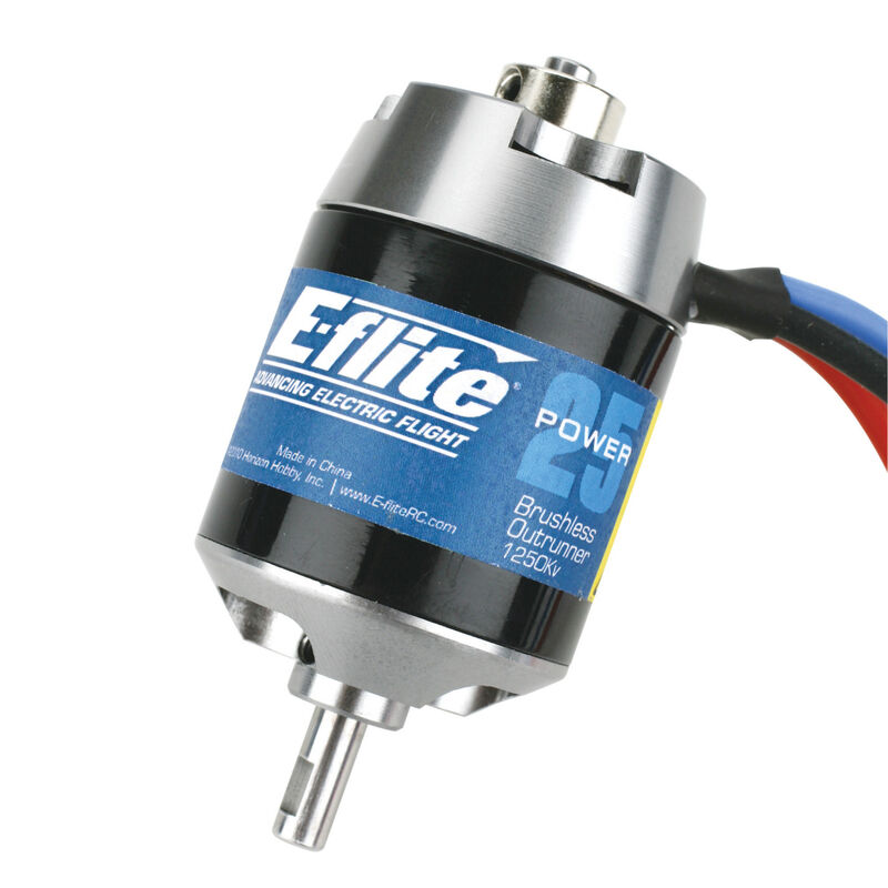 Power 25 Brushless Outrunner Motor, 1250Kv: 3.5mm Bullet