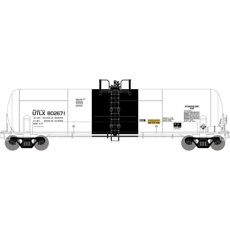 HO RTR RTC 20,900-Gal Acid Tank,UTLX/White #802671