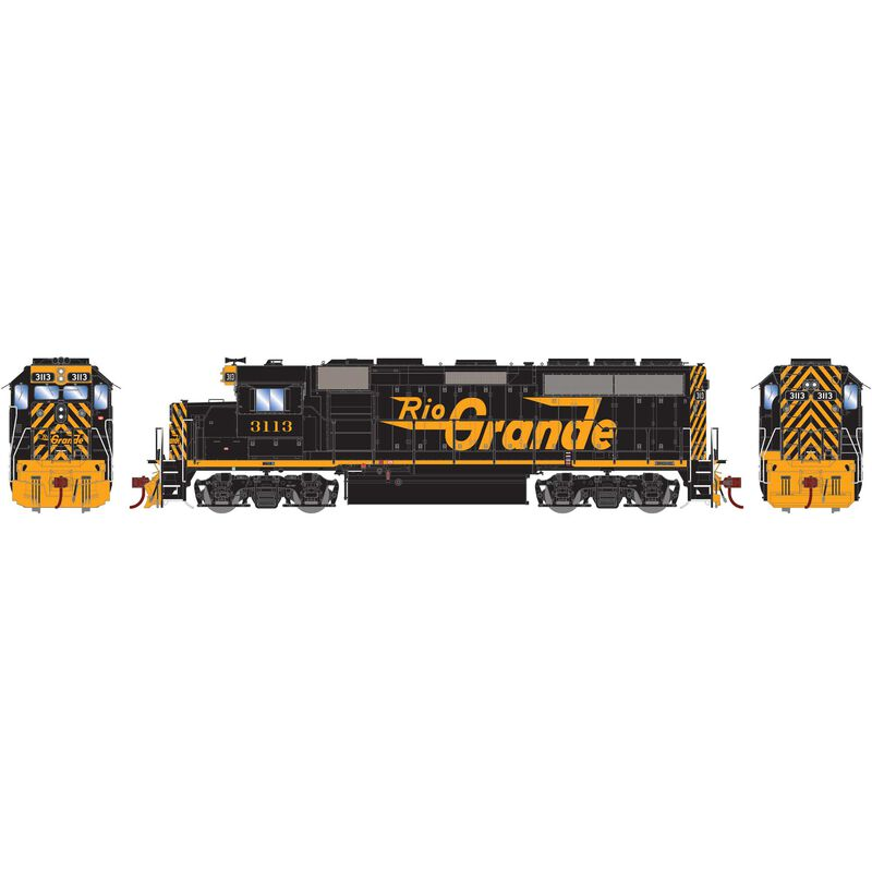 HO GP40-2 with DCC & Sound D&RGW #3113
