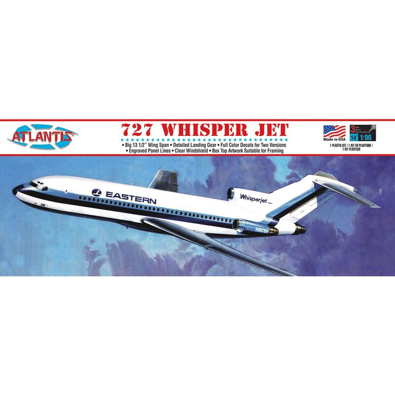 Boeing 727 Whisper Jet Plastic 1/96 Model Kit