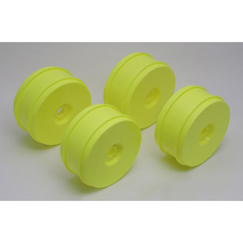 1/8 Buggy Front/Rear 2.8 Wheels, 83mm, Yellow (4): RC8