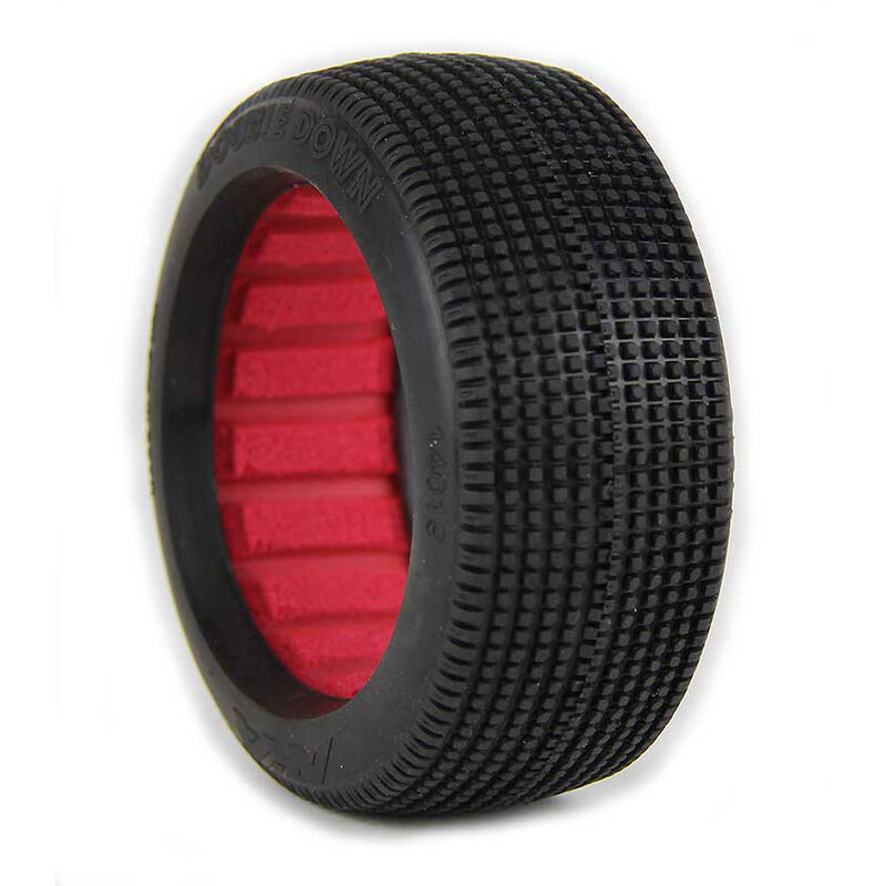 1/8 Double Down Super Soft Long Wear Front/Rear Tires with Red Inserts: Buggy (2)