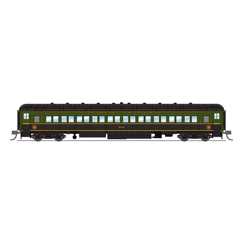 6540 CN 80' Passenger ,Green & Black,Single Car,N