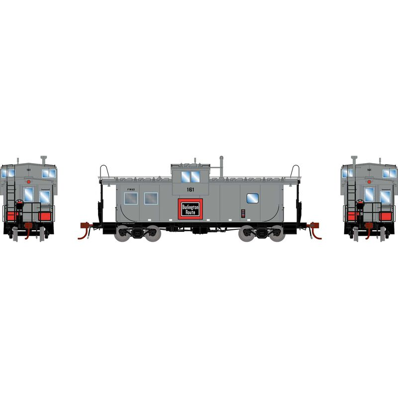 HO ICC Caboose with Lights, FW&D #161