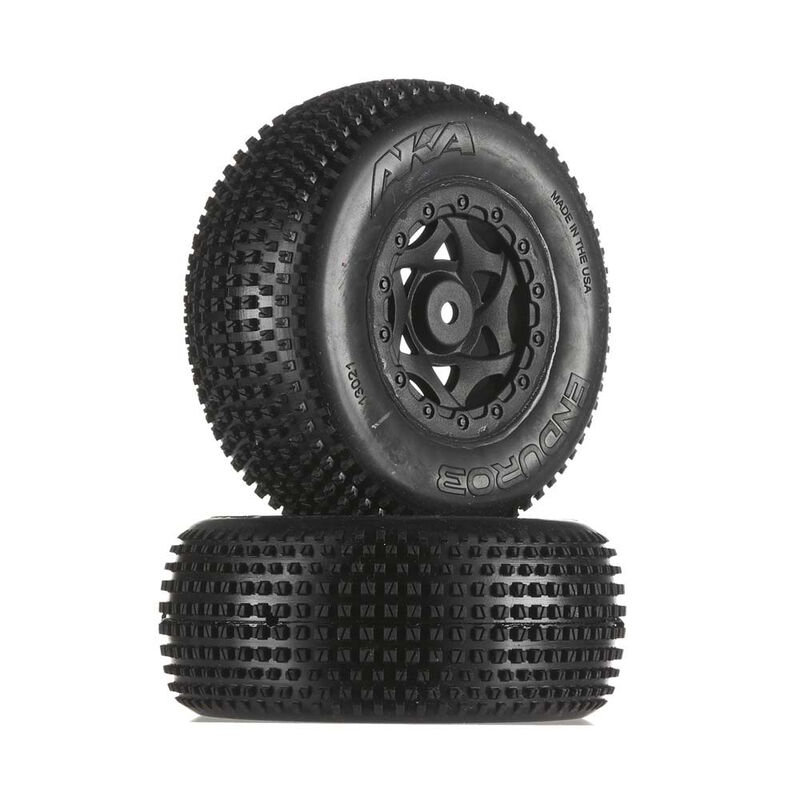 1/10 Enduro 3 SC Wide Ultra Soft Front/Rear Tire Mounted with Red Insert: SCTE (2)
