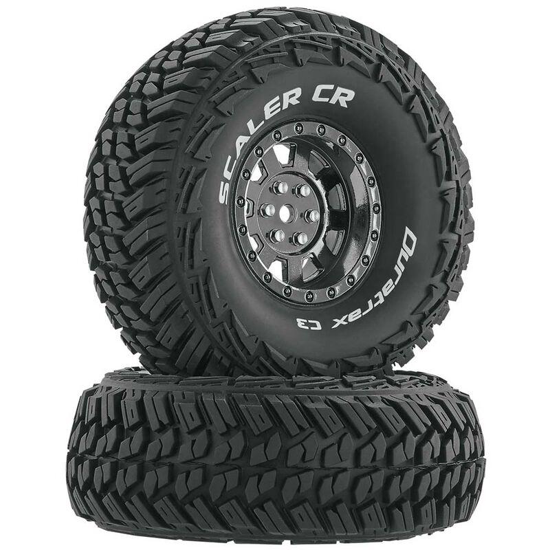 "Scaler CR C3 Mounted 1.9"" Crawler Tires, Chrome (2)"