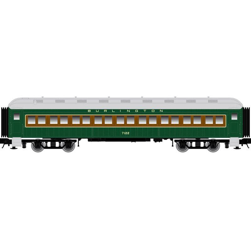 N Trainman 60' Coach CB&Q #7124