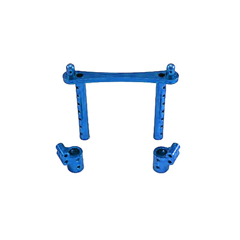 Body Posts, Aluminum, Blue: Rampage MT