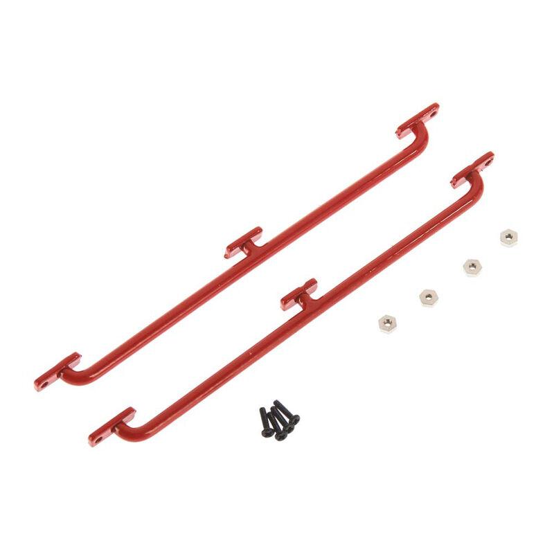 Side Body Guards, Red: 1/18 Gelande D90