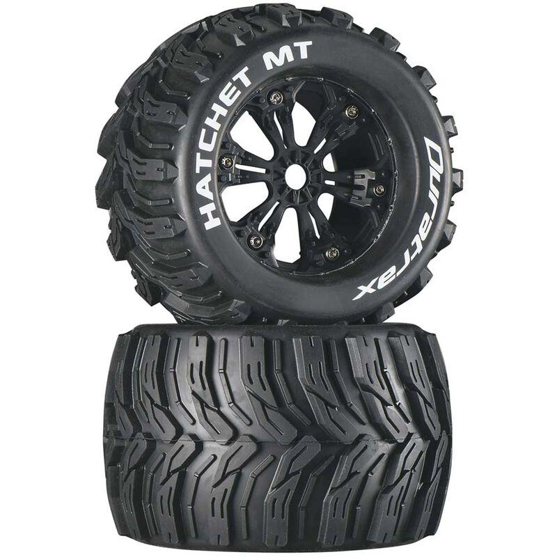 "Hatchet MT 3.8"" Mounted Tires, Black (2)"