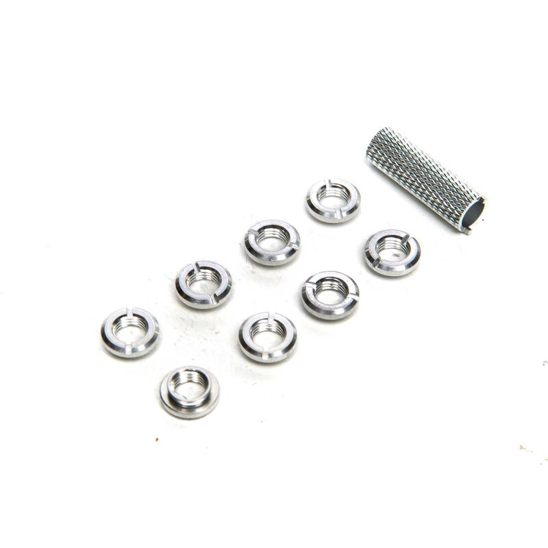 Radio Silver Switch Nuts (8) & Wrench