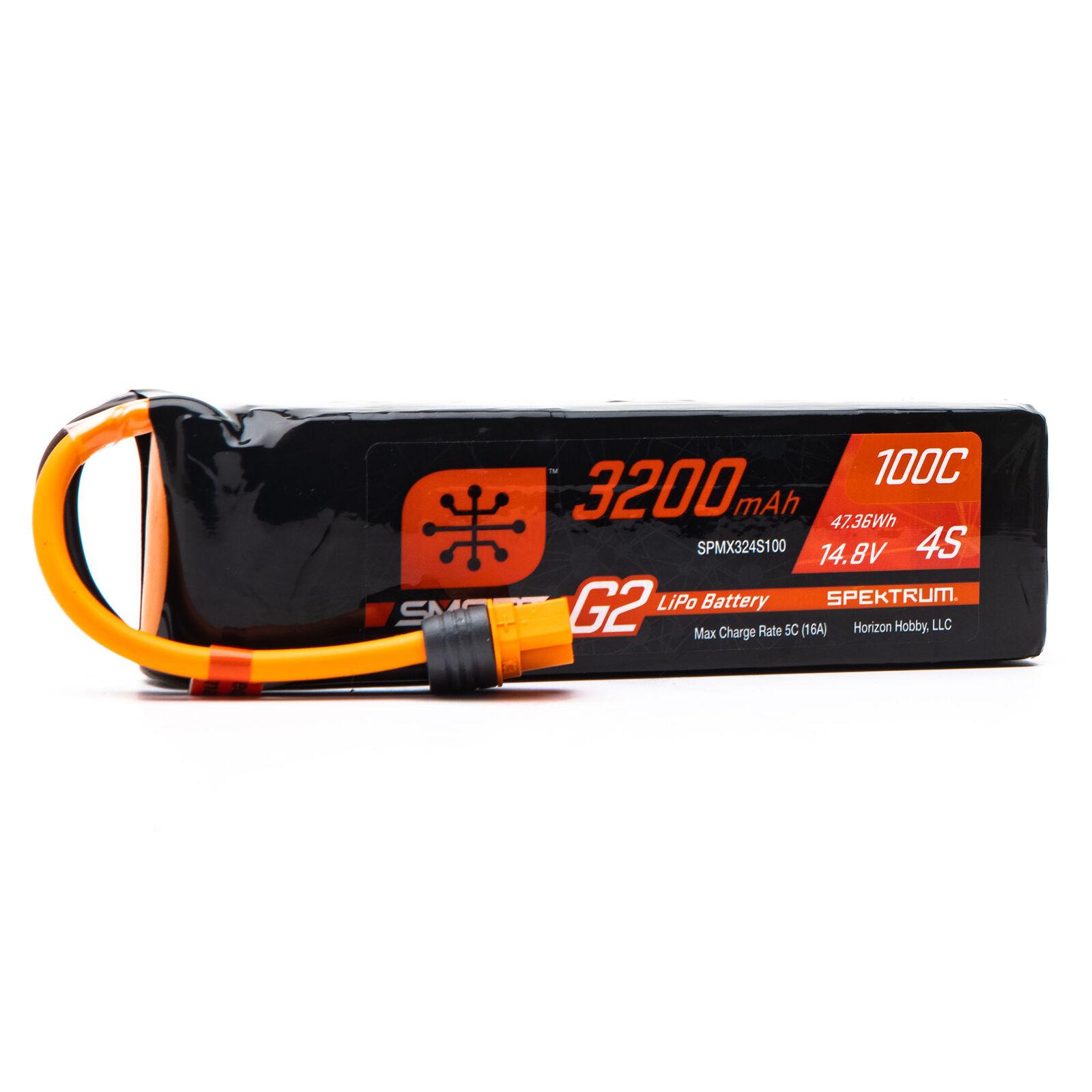14.8V 3200mAh 4S 100C Smart G2 LiPo Battery: IC3