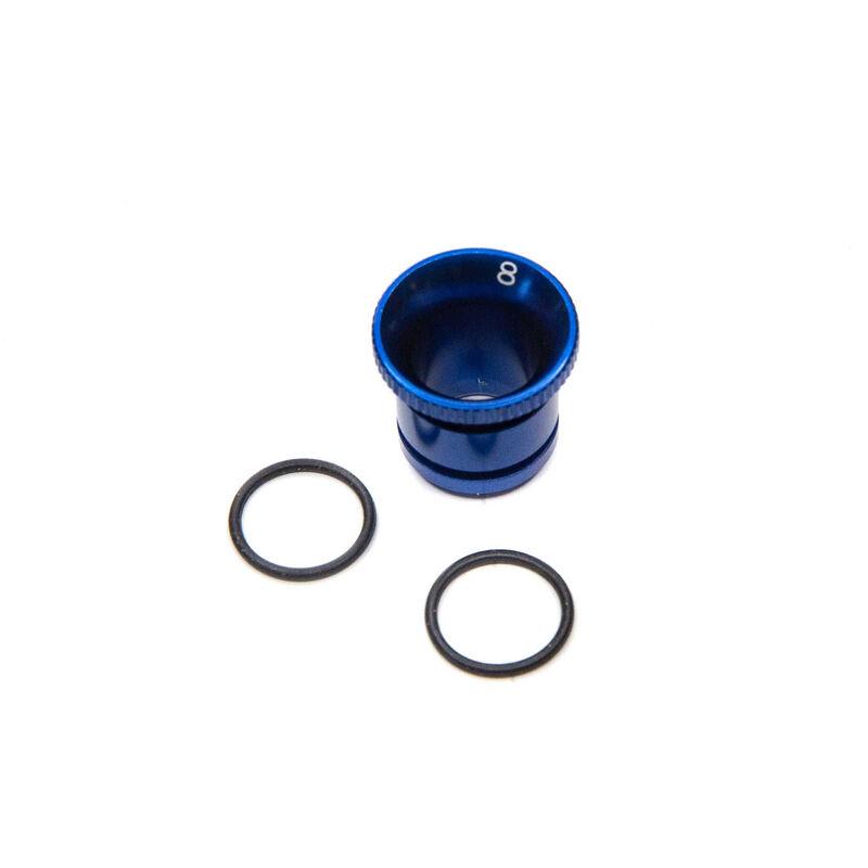 Carburetor Reducer 8mm, Blue