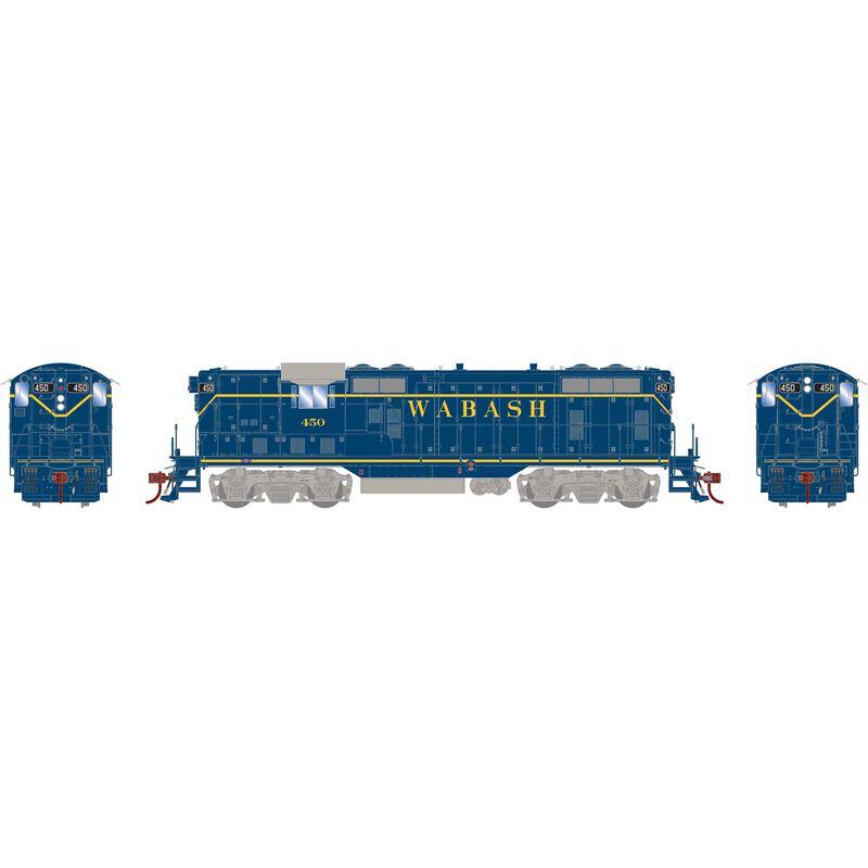 HO GP7 with DCC & Sound Wabash Blue #450