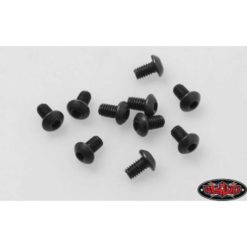 Steel Button Head Cap Screws M2.5 x 4mm (10)