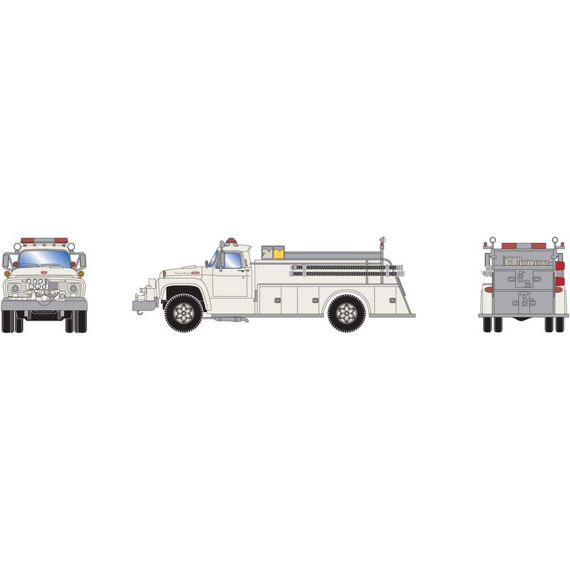 HO RTR Ford F-850 Fire Truck, White