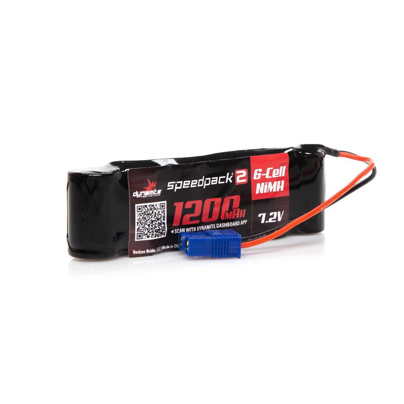 Speedpack2 7.2V 1200mAh 6C NiMH, Long, MINI-S