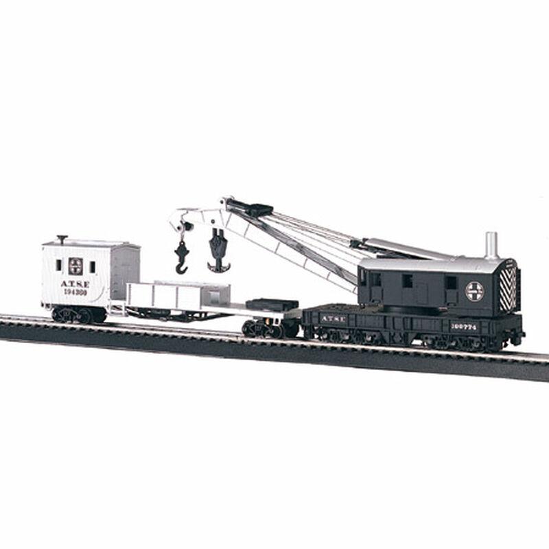 HO 250-Ton Steam Crane w/Boom Tender, SF