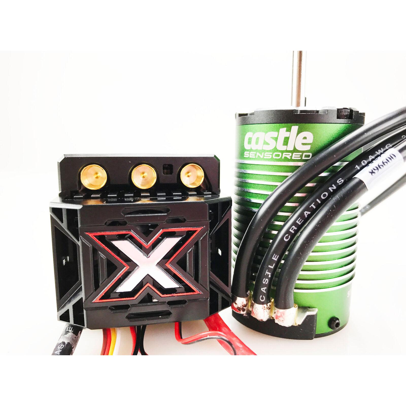 1/8 Mamba Monster X ESC/1515-2200KV Sensored Brushless Motor Combo: 6.5mm Bullet
