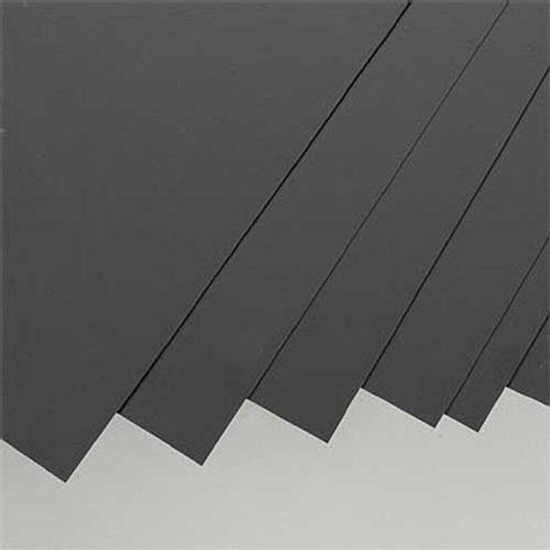 "Black Styrene Sheets, .01x8x21"" (8)"