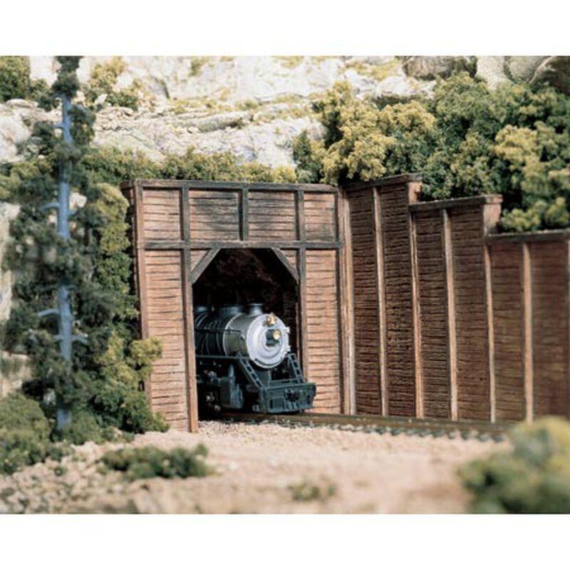 HO Single Tunnel Portal, Timber