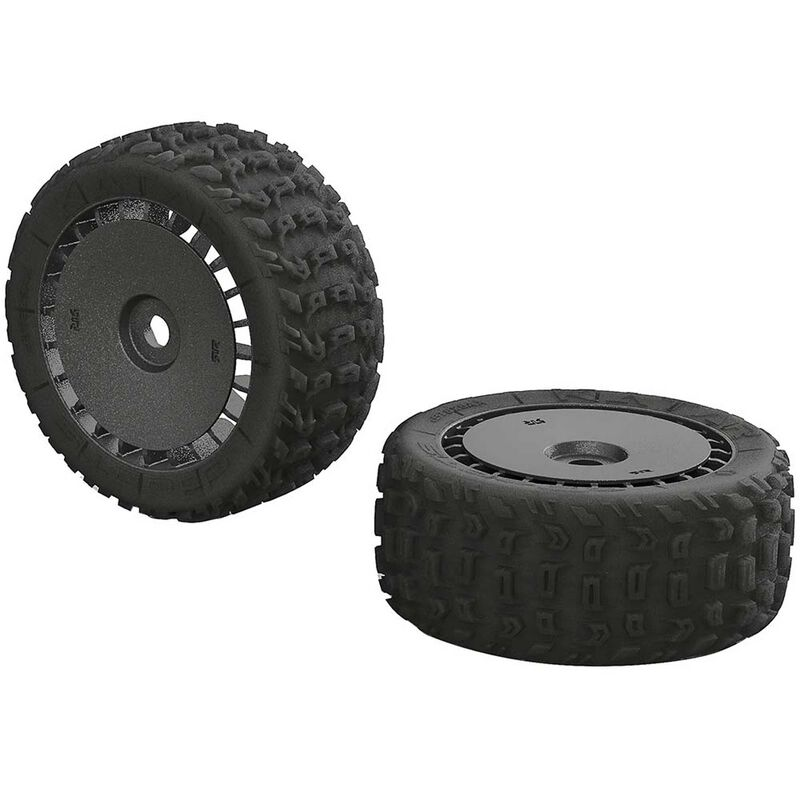 1/8 KATAR T 6S Front/Rear 3.8 Pre-Mounted Tires: Talion (2)