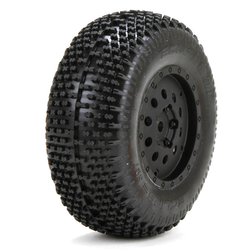 1/10 Eclipse Rear 2.2/3.0 Pre-Mounted Tires, 12mm Hex (2): XXX-SCT/SCB
