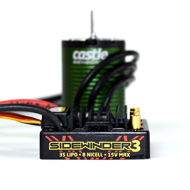1/10 SV3 Sidewinder Waterproof ESC/1406-6900Kv Sensored Brushless Motor Combo: 4mm Bullet