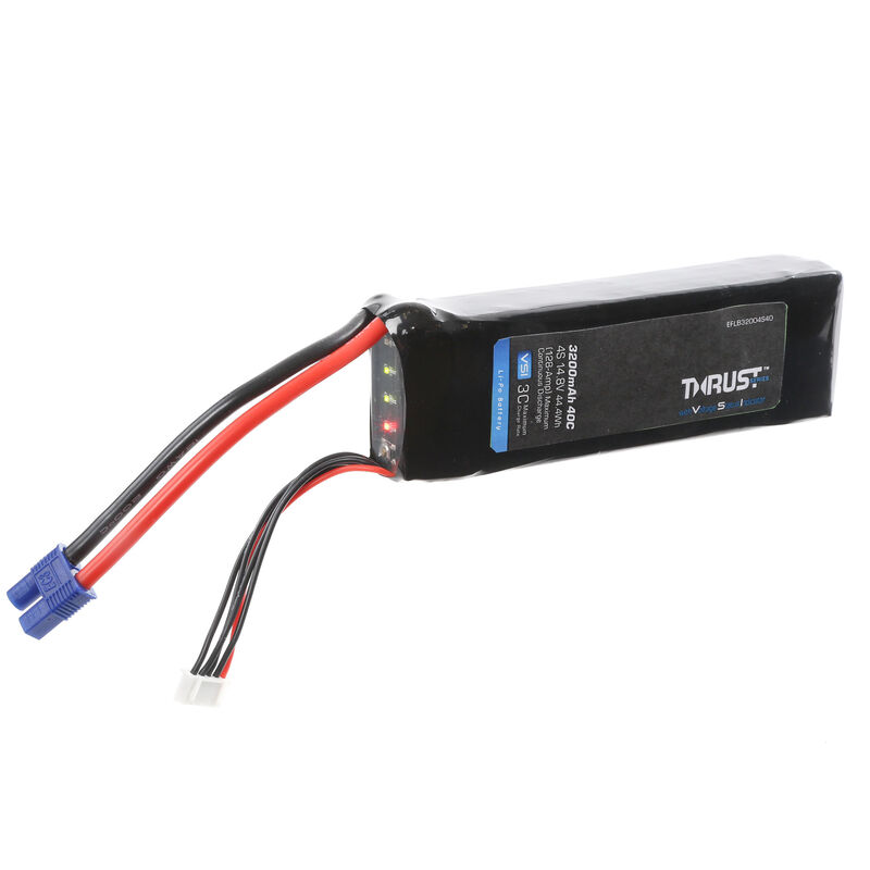 14.8V 3200mAh 4S 40C Thrust VSI LiPo Battery: EC3