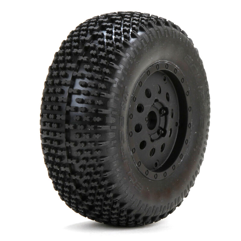 1/10 Eclipse Front 2.2/3.0 Pre-Mounted Tires, 12mm Hex (2): XXX-SCT