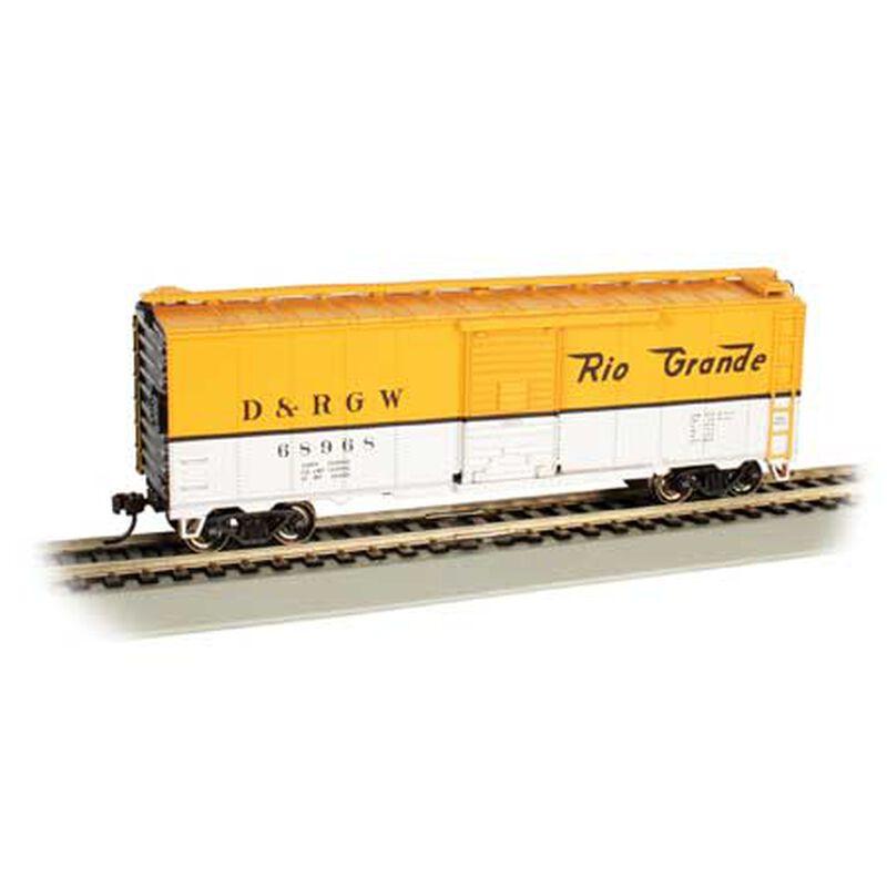 HO 40' Box Car D&RGW #68968, Yellow/Silver