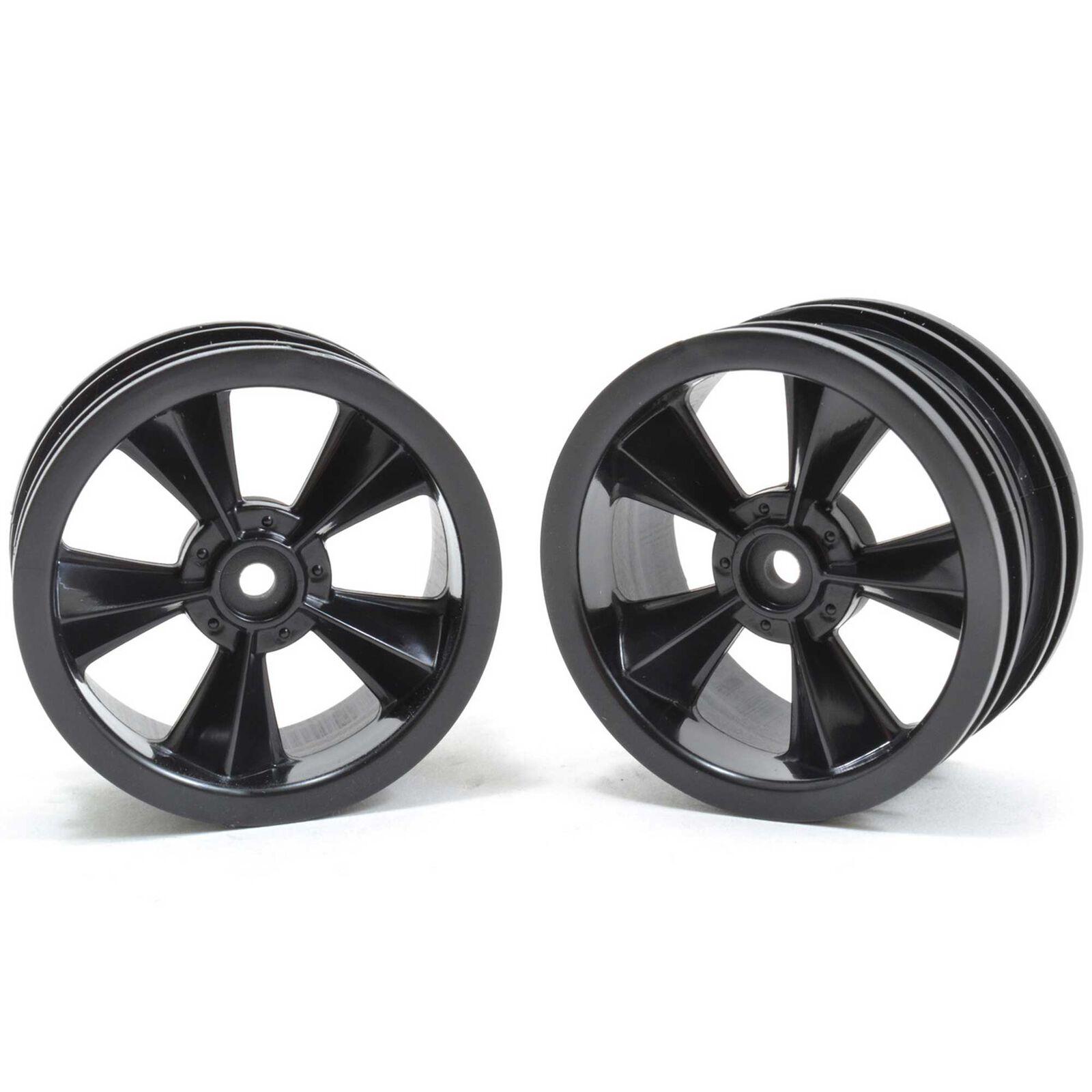 """N2O"" Resto-Mod Sedan Wheels, Gloss Black (2)"