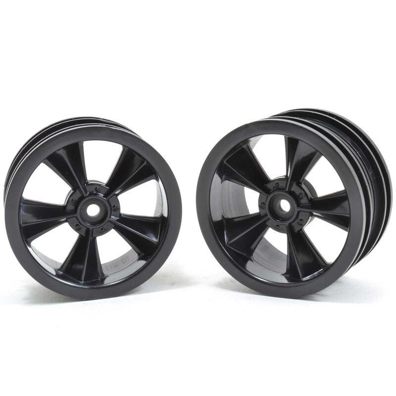 """N2O"" Resto-Mod Sedan Wheels, Gloss Black (2)"