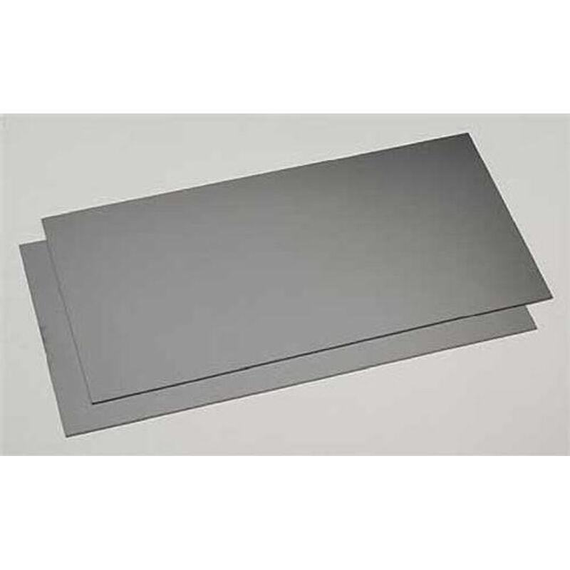 "Black Styrene Sheets, .03x6x12"" (2)"