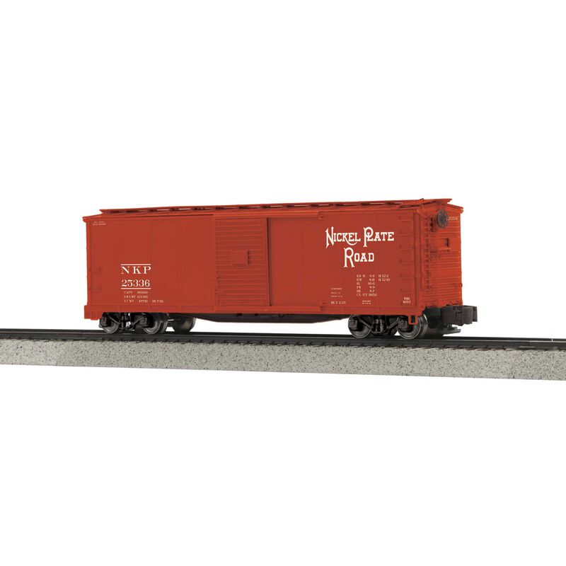 Rebuilt Steel Box Car Hi-Rail Wheels NKP #25336