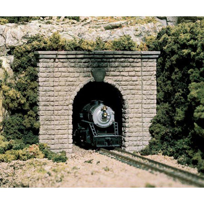 HO Single Tunnel Portal, Cut Stone