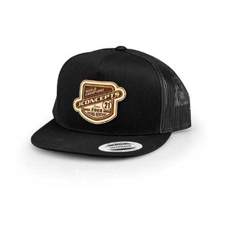 JConcepts Heritage 21 Flat Bill Hat, Black