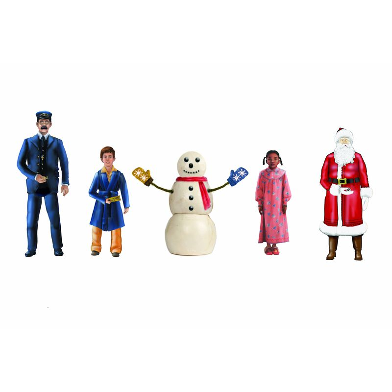 THE POLAR EXPRESS Snowman & Children People Pack