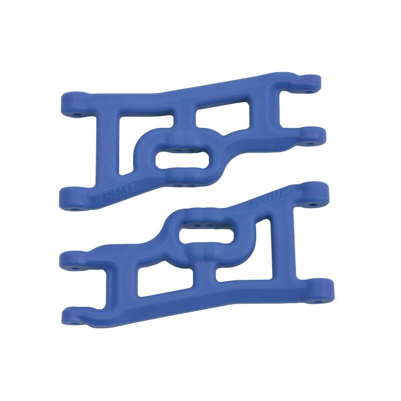 Front A-arms (2) Offset-Compensating, Blue; Slash