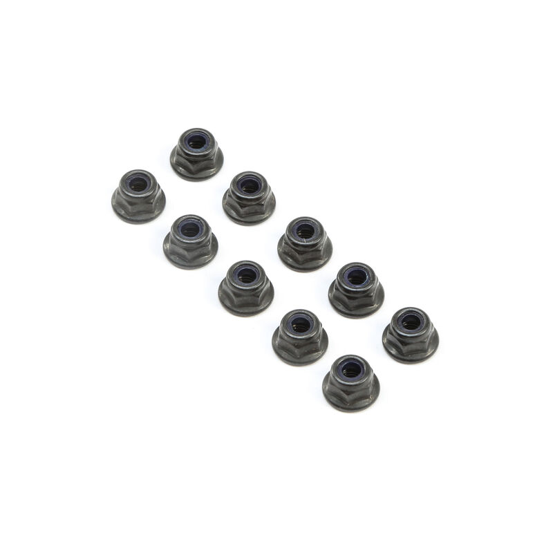 M4 Flanged Lock Nuts (10)