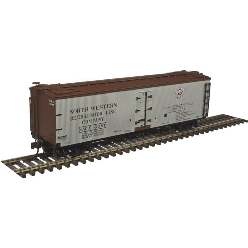 HO 40'Wood Reefer North Western Refrigerator #6126