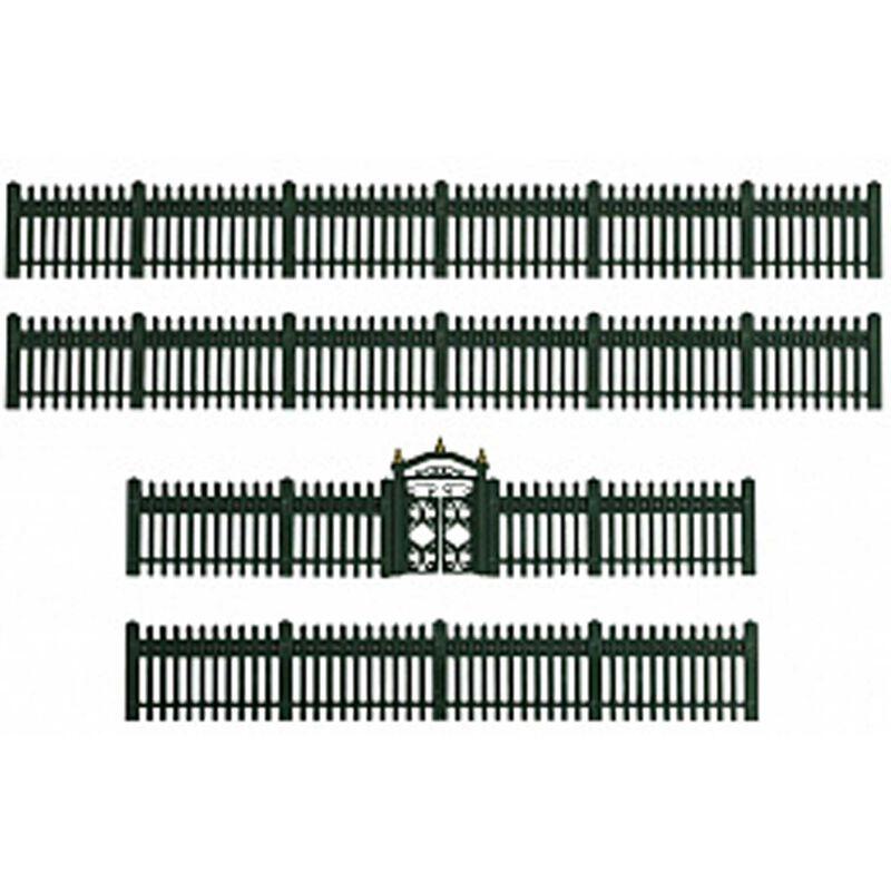 Green Iron Fence