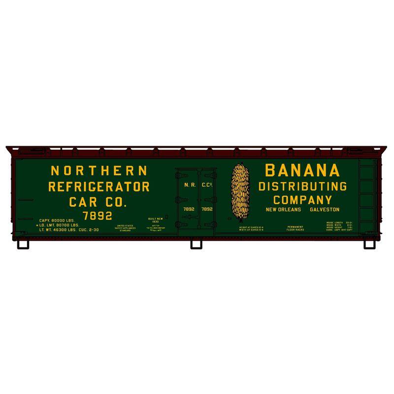 HO KIT 40' Wood Reefer Northern Reefer Co Bananas