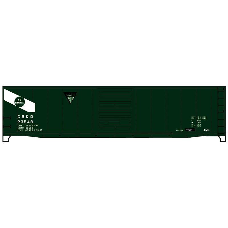 HO Limited Run 50' Steel Boxcar CB&O #23548