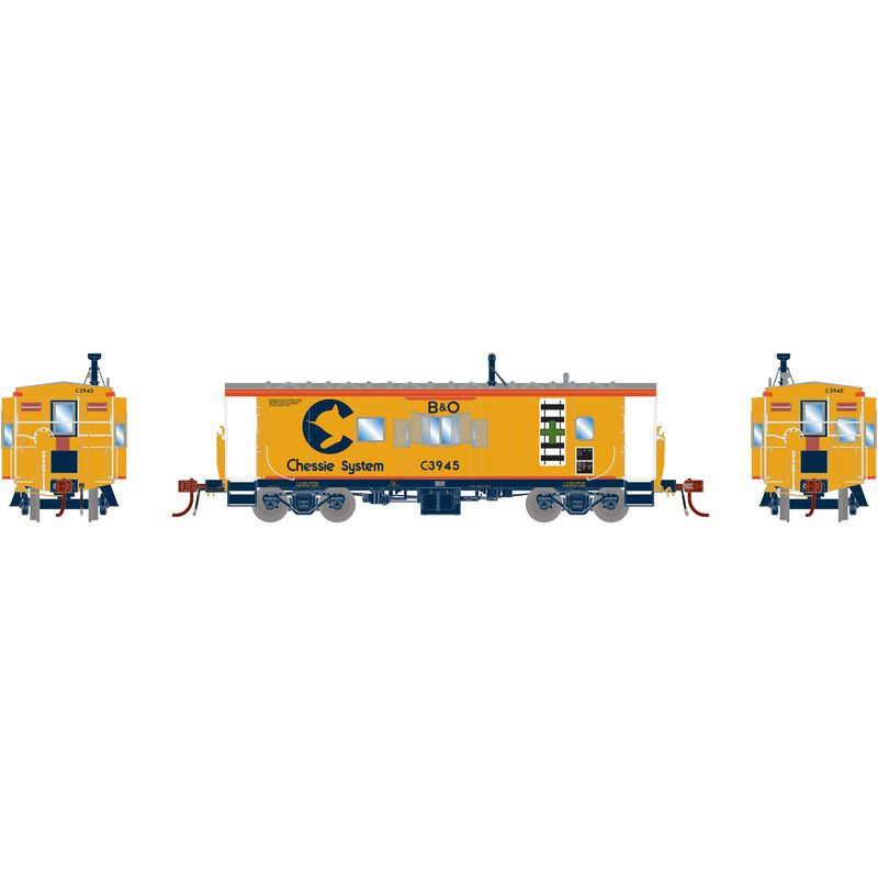 HO ICC Caboose with Lights & Sound B&O Chessie #C-3945