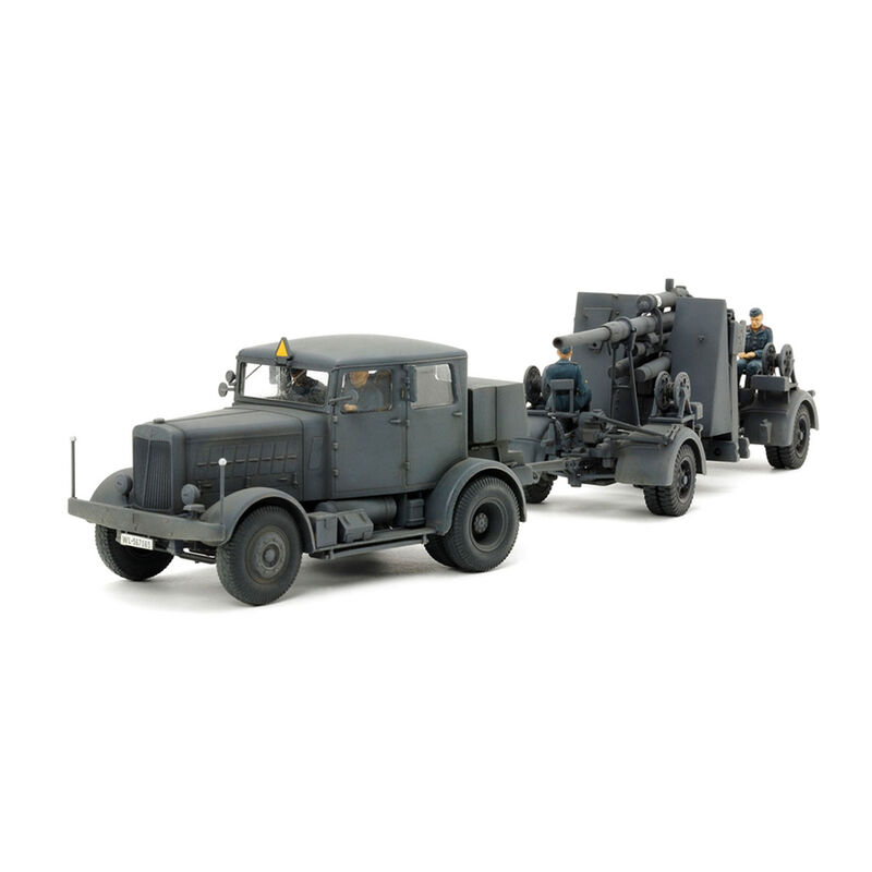 1/48 German Heavy Tractor SS100 Gun Flak37 Set