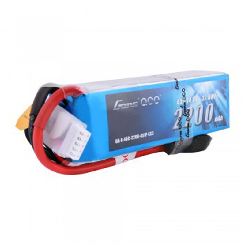 14.8V 2200 Capacity 4S Voltage 45C LiPo, EC3